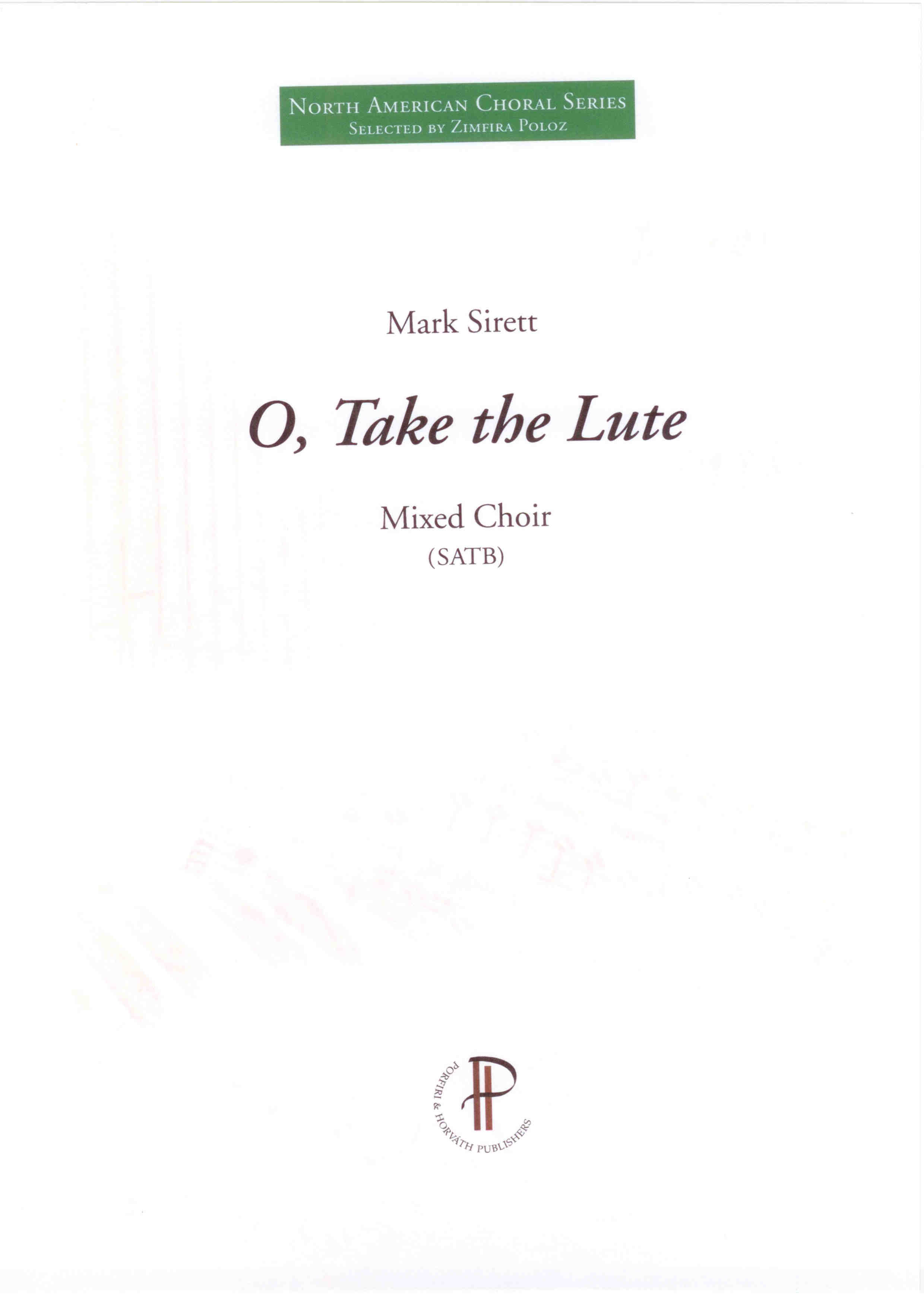 O, Take the Lute